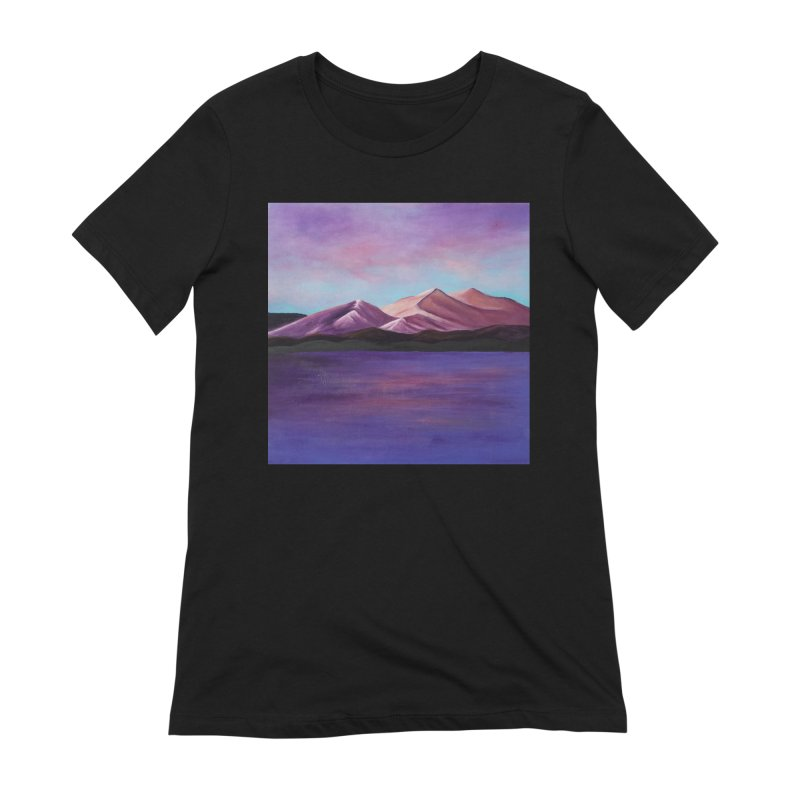 Purple Mountains Women's Extra Soft T-Shirt by paintbytiger's Artist Shop