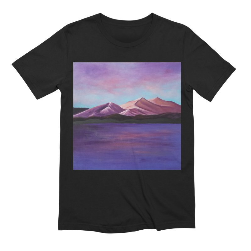 Purple Mountains Men's Extra Soft T-Shirt by paintbytiger's Artist Shop