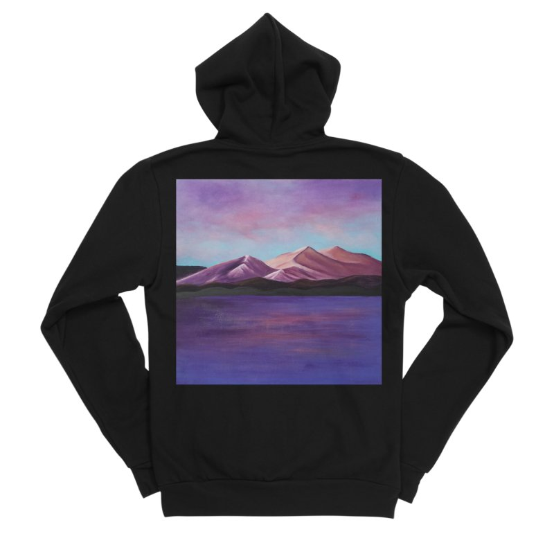 Purple Mountains Men's Sponge Fleece Zip-Up Hoody by paintbytiger's Artist Shop