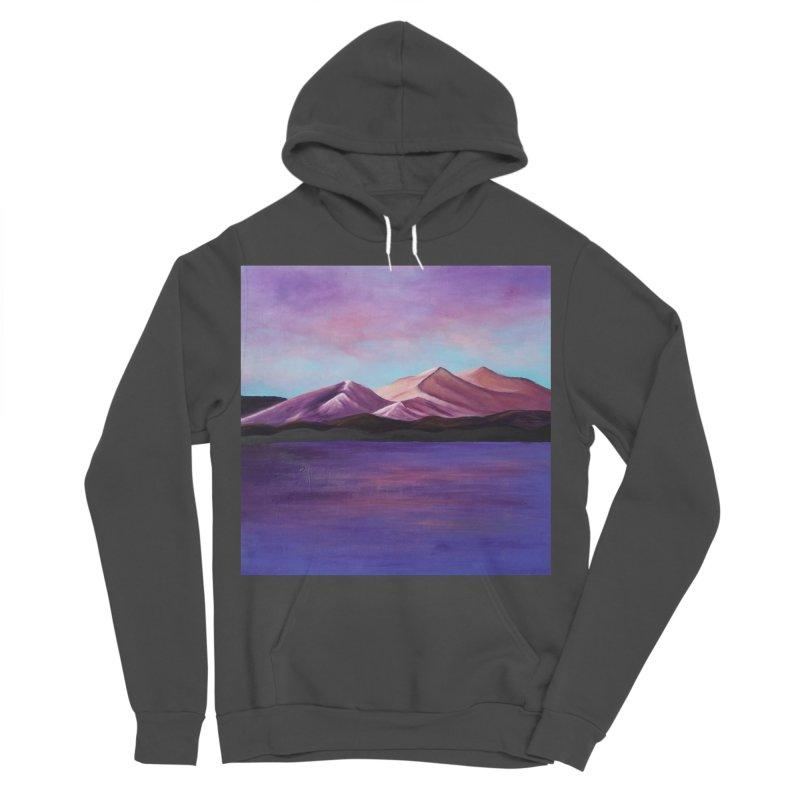 Purple Mountains Women's Sponge Fleece Pullover Hoody by paintbytiger's Artist Shop