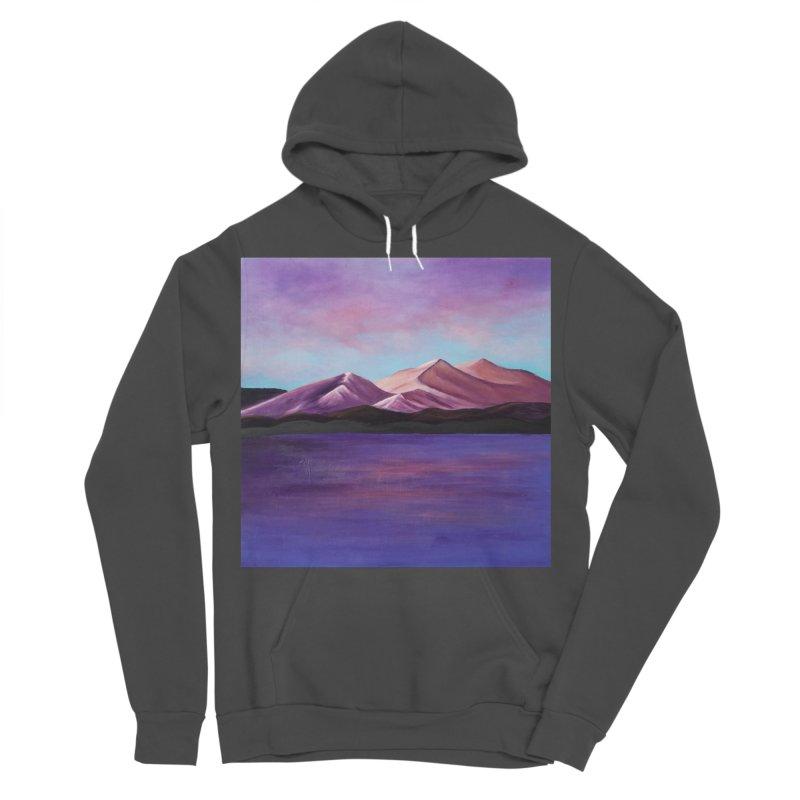 Purple Mountains Men's Sponge Fleece Pullover Hoody by paintbytiger's Artist Shop