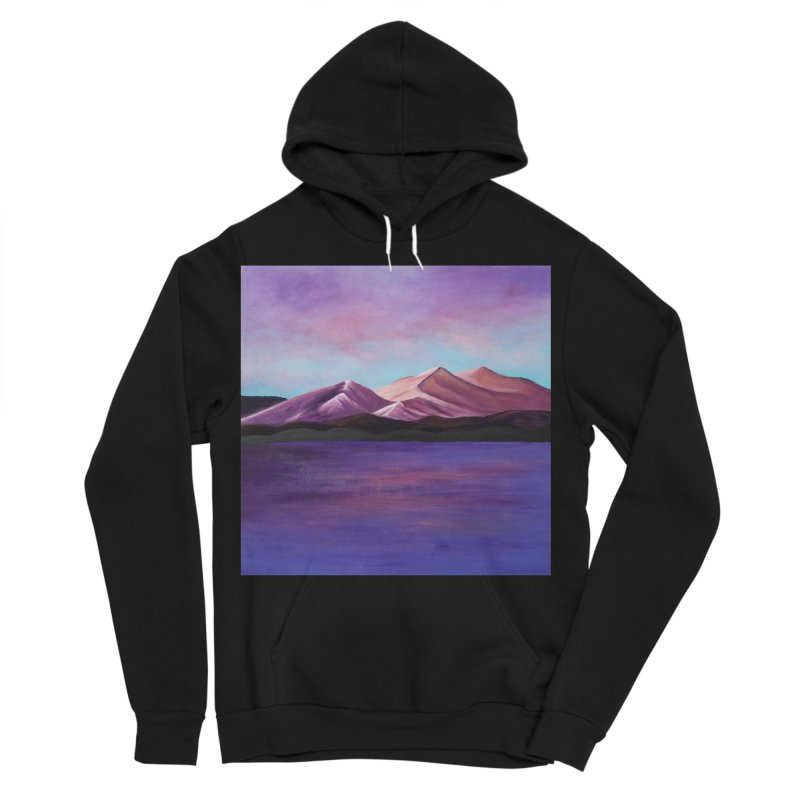 Purple Mountains Women's Sponge Fleece Pullover Hoody by paintbytiger's Artist Shop