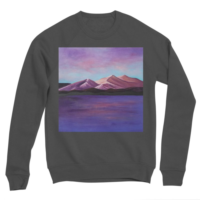 Purple Mountains Men's Sponge Fleece Sweatshirt by paintbytiger's Artist Shop