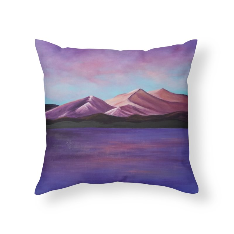 Purple Mountains Home Throw Pillow by paintbytiger's Artist Shop