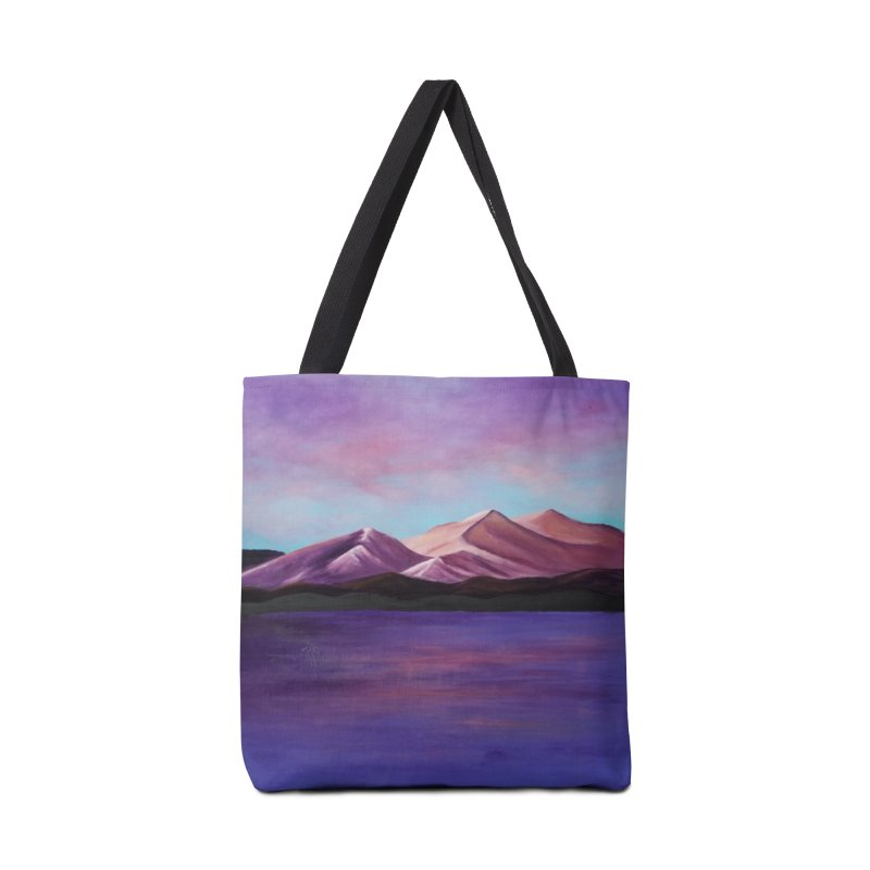 Purple Mountains Accessories Tote Bag Bag by paintbytiger's Artist Shop