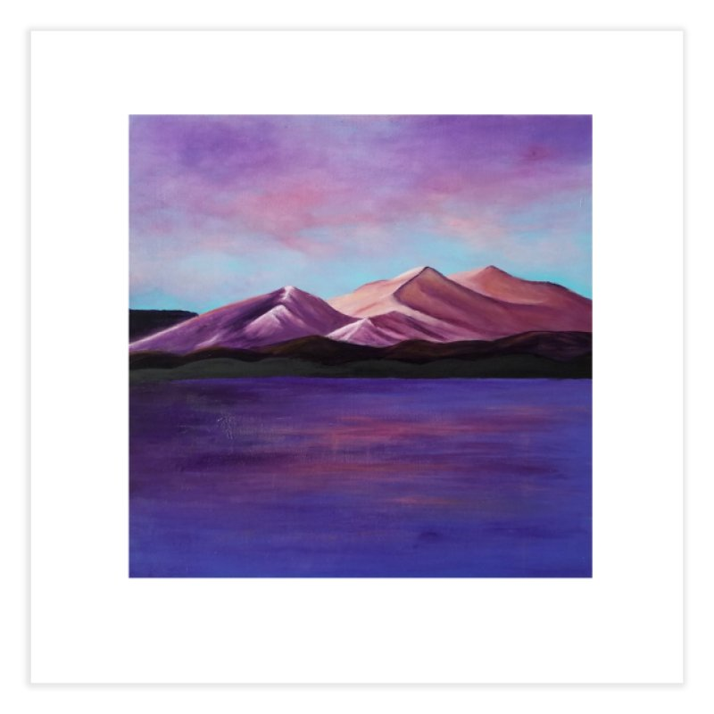 Purple Mountains Home Fine Art Print by paintbytiger's Artist Shop