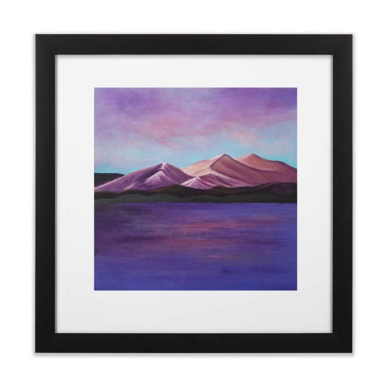 Purple Mountains Home Framed Fine Art Print by paintbytiger's Artist Shop