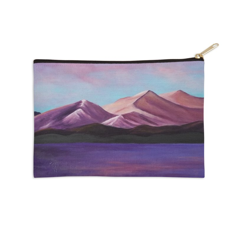 Purple Mountains Accessories Zip Pouch by paintbytiger's Artist Shop