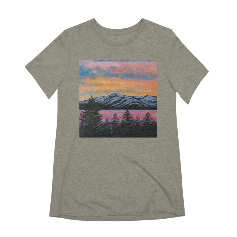 Lake Tahoe Women's Extra Soft T-Shirt by paintbytiger's Artist Shop