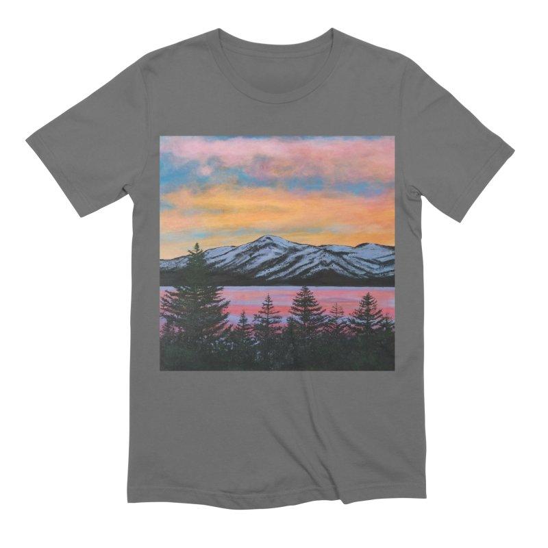 Lake Tahoe Men's T-Shirt by paintbytiger's Artist Shop