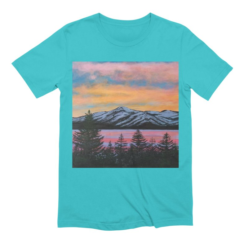 Lake Tahoe Men's Extra Soft T-Shirt by paintbytiger's Artist Shop