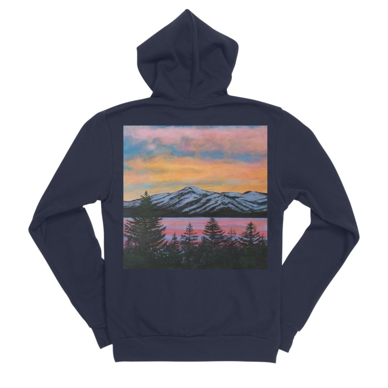 Lake Tahoe Men's Sponge Fleece Zip-Up Hoody by paintbytiger's Artist Shop