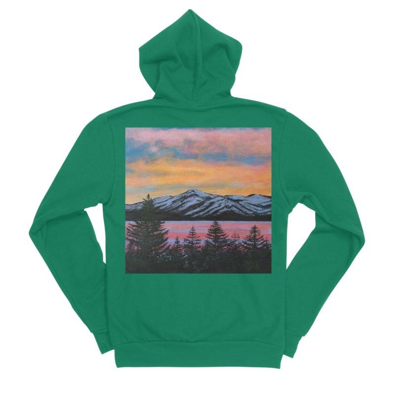 Lake Tahoe Men's Sponge Fleece Zip-Up Hoody by paintbytiger's Artist Shop