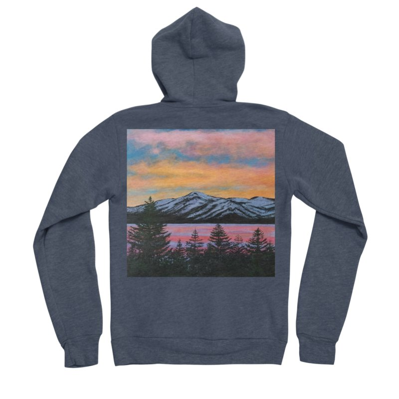Lake Tahoe Women's Sponge Fleece Zip-Up Hoody by paintbytiger's Artist Shop