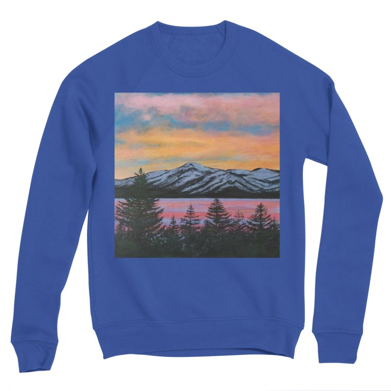 Lake Tahoe Men's Sponge Fleece Sweatshirt by paintbytiger's Artist Shop