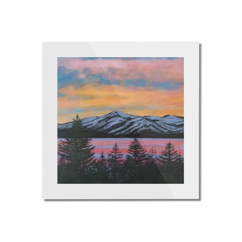 Lake Tahoe Home Mounted Acrylic Print by paintbytiger's Artist Shop