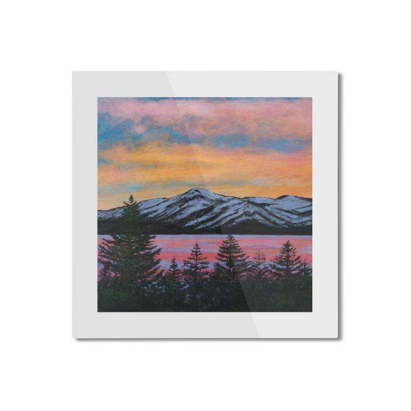Lake Tahoe Home Mounted Aluminum Print by paintbytiger's Artist Shop