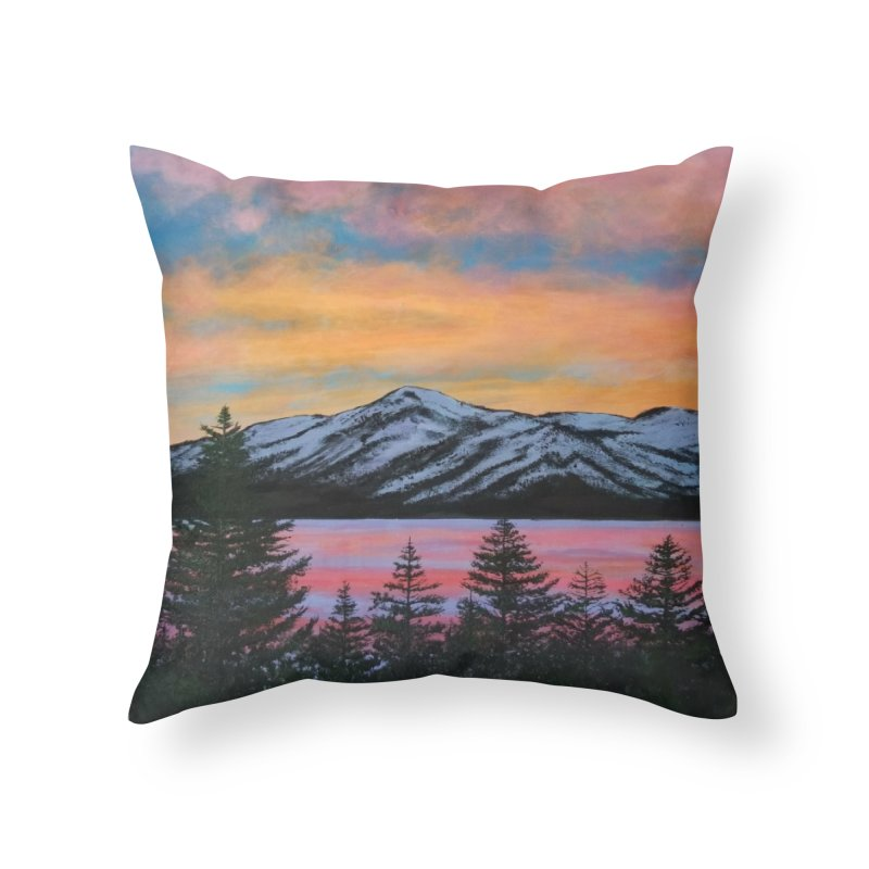 Lake Tahoe Home Throw Pillow by paintbytiger's Artist Shop