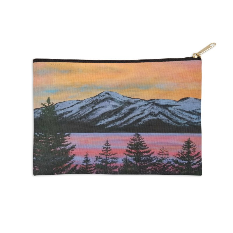 Lake Tahoe Accessories Zip Pouch by paintbytiger's Artist Shop