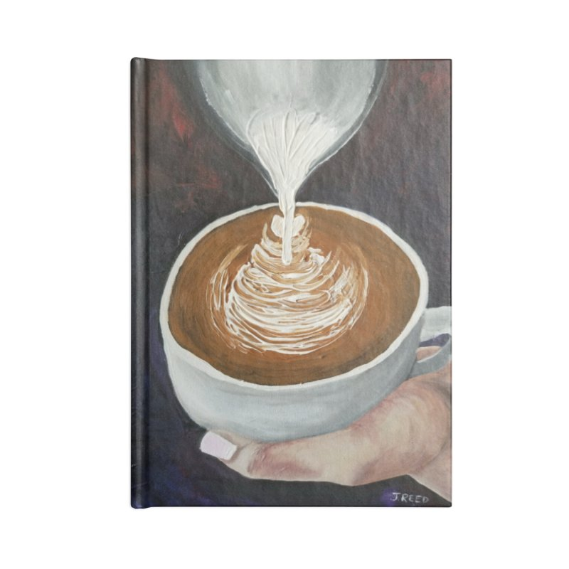 Latte Pour Accessories Lined Journal Notebook by paintbytiger's Artist Shop