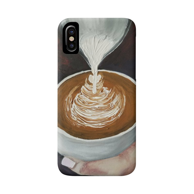 Latte Pour Accessories Phone Case by paintbytiger's Artist Shop