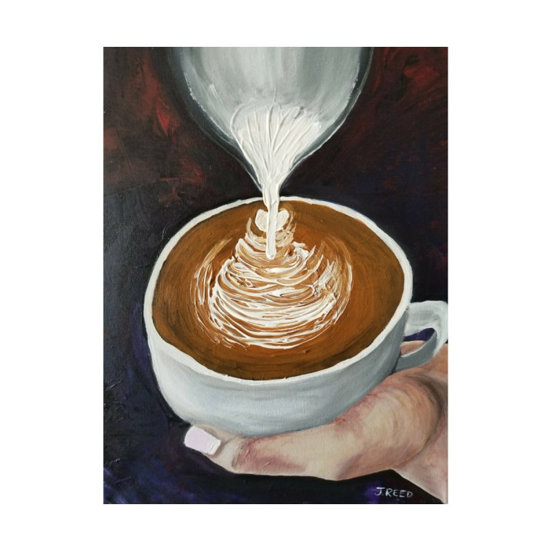 Latte Pour Men's T-Shirt by paintbytiger's Artist Shop