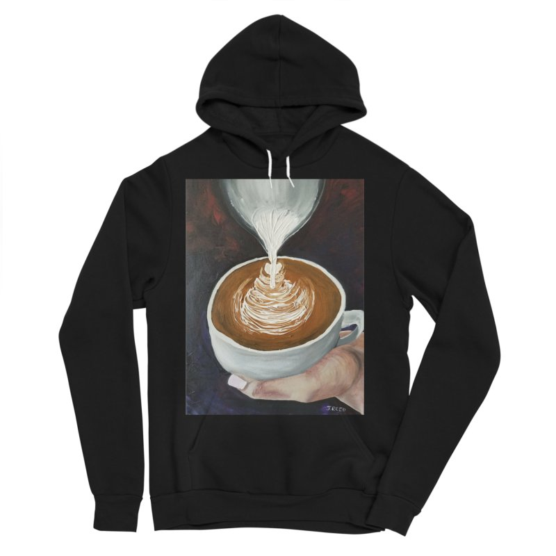 Latte Pour Men's Sponge Fleece Pullover Hoody by paintbytiger's Artist Shop