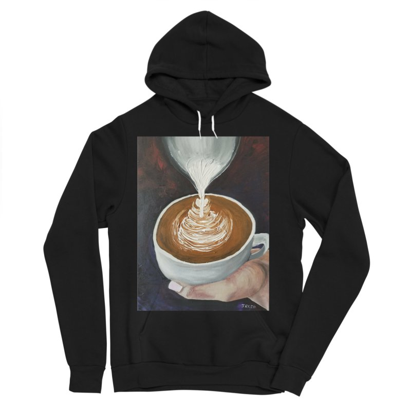 Latte Pour Women's Sponge Fleece Pullover Hoody by paintbytiger's Artist Shop