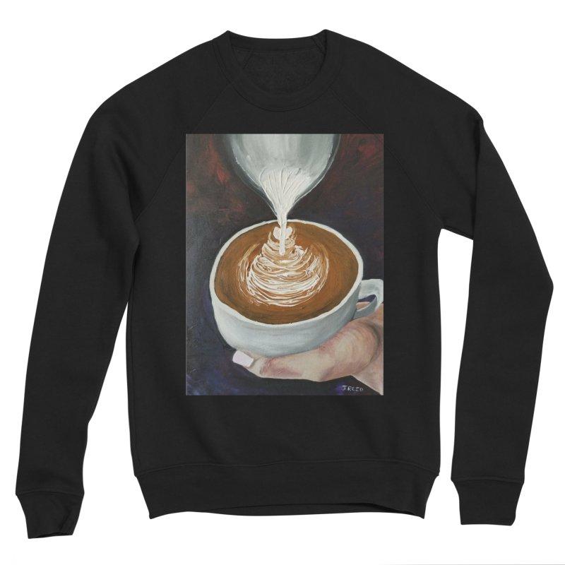 Latte Pour Men's Sponge Fleece Sweatshirt by paintbytiger's Artist Shop