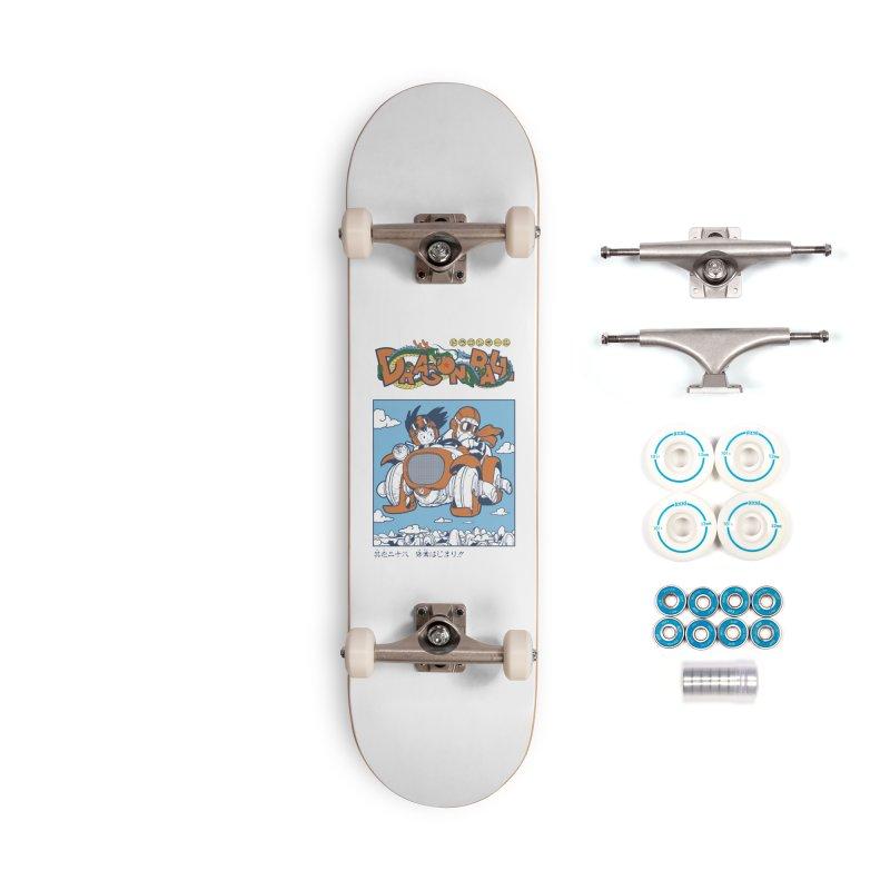 Goku and Roshi Accessories Skateboard by País de las Máquinas