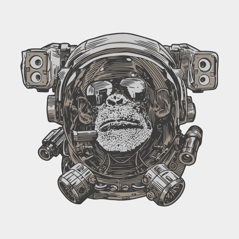 Astronaut Chimp None  by Pakai Baung