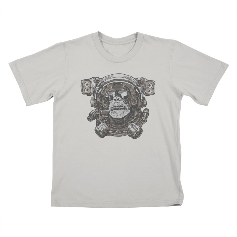 Astronaut Chimp Kids T-shirt by Pakai Baung