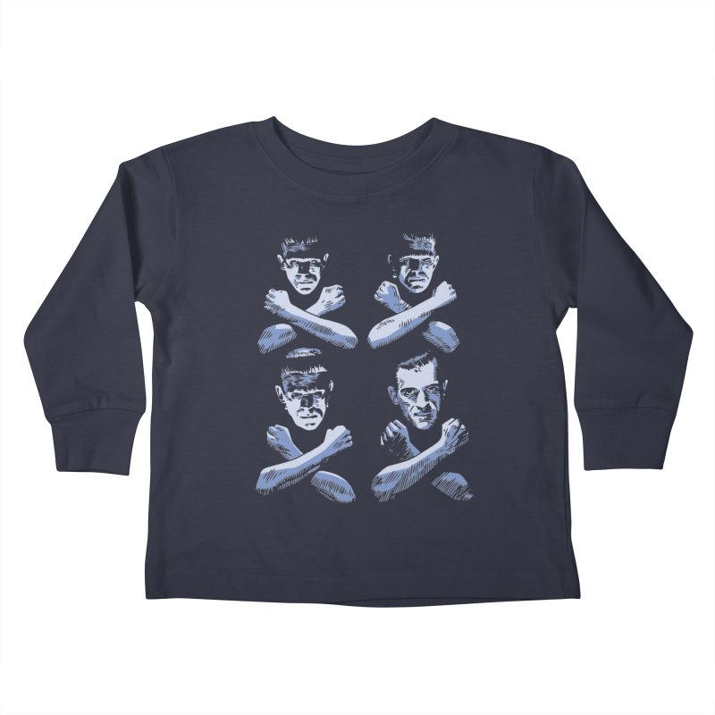 Master of Frankenstein Kids Toddler Longsleeve T-Shirt by Pakai Baung
