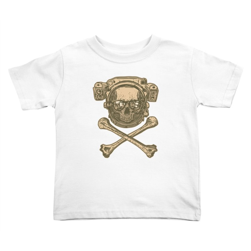 Space Pirate Kids Toddler T-Shirt by Pakai Baung