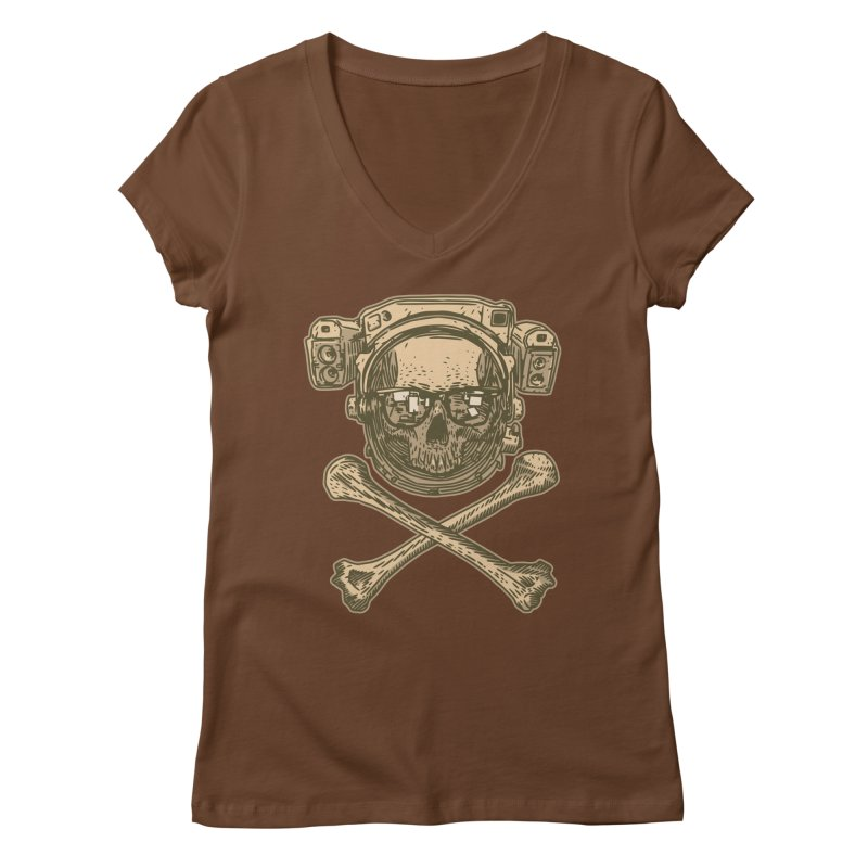 Space Pirate Women's V-Neck by Pakai Baung