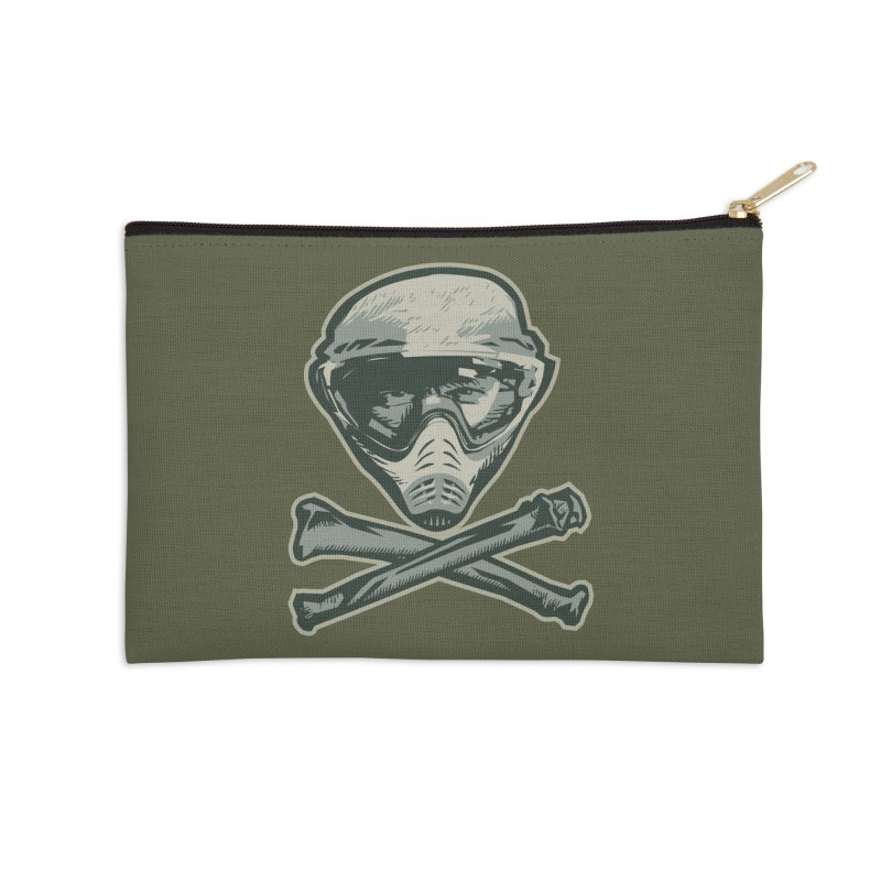 Paintball Skull Accessories Zip Pouch by Pakai Baung