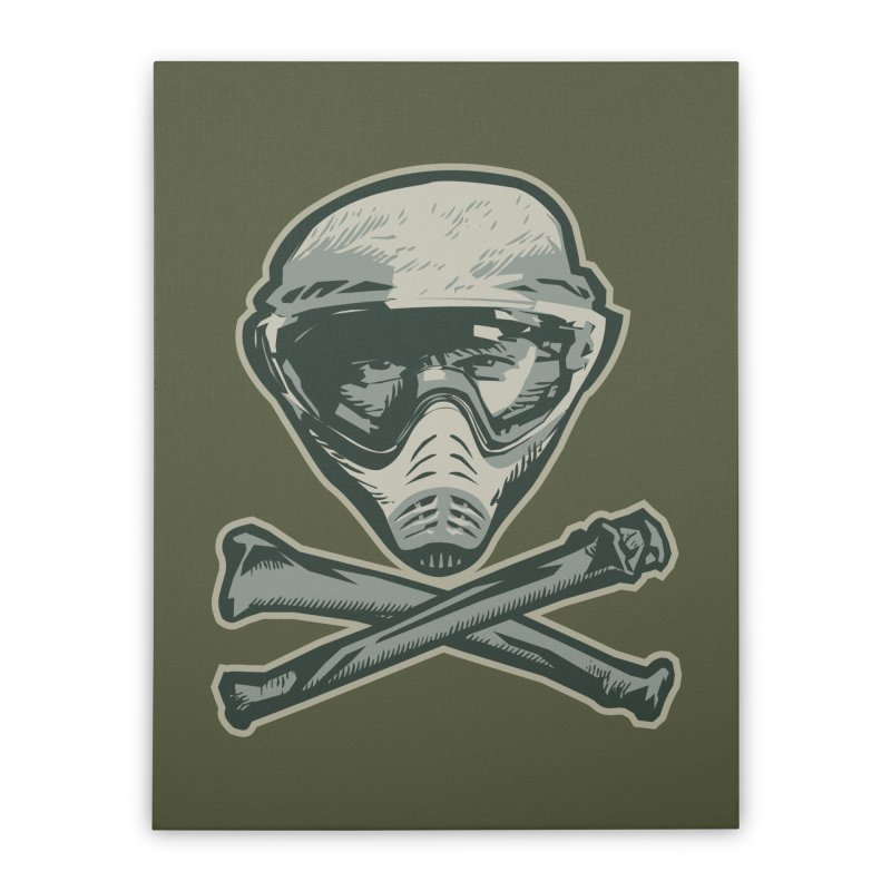 Paintball Skull Home Stretched Canvas by Pakai Baung