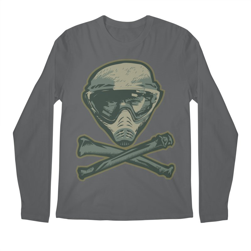 Paintball Skull Men's Longsleeve T-Shirt by Pakai Baung