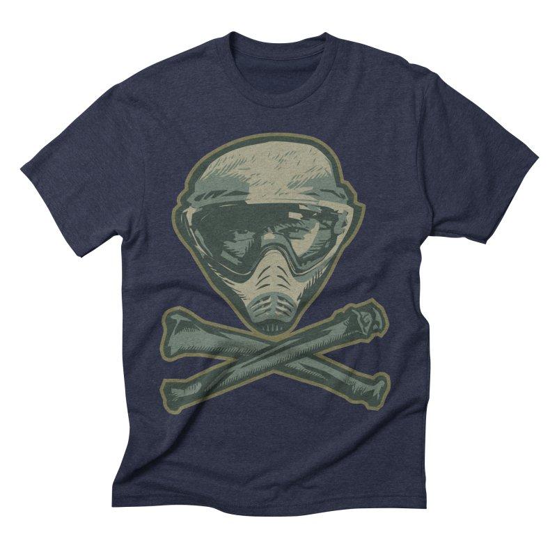 Paintball Skull Men's Triblend T-Shirt by Pakai Baung