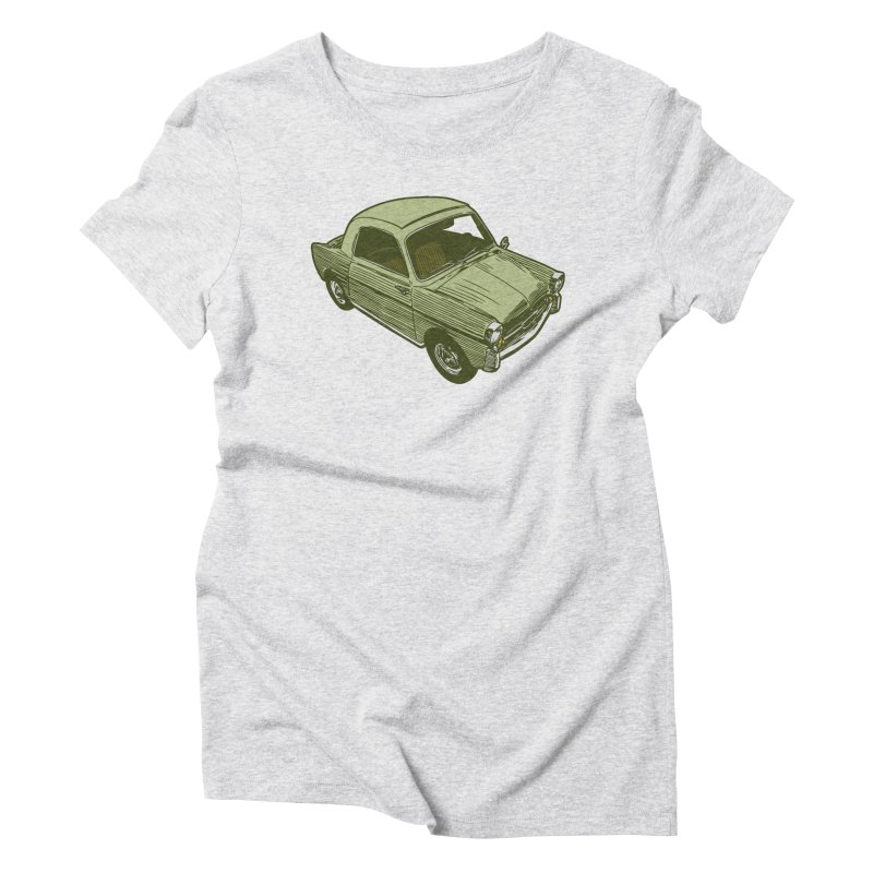 Vintage Cute Car Women's Triblend T-Shirt by Pakai Baung