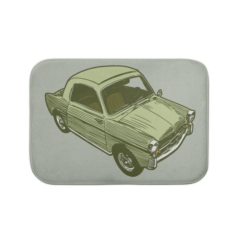 Vintage Cute Car Home Bath Mat by Pakai Baung