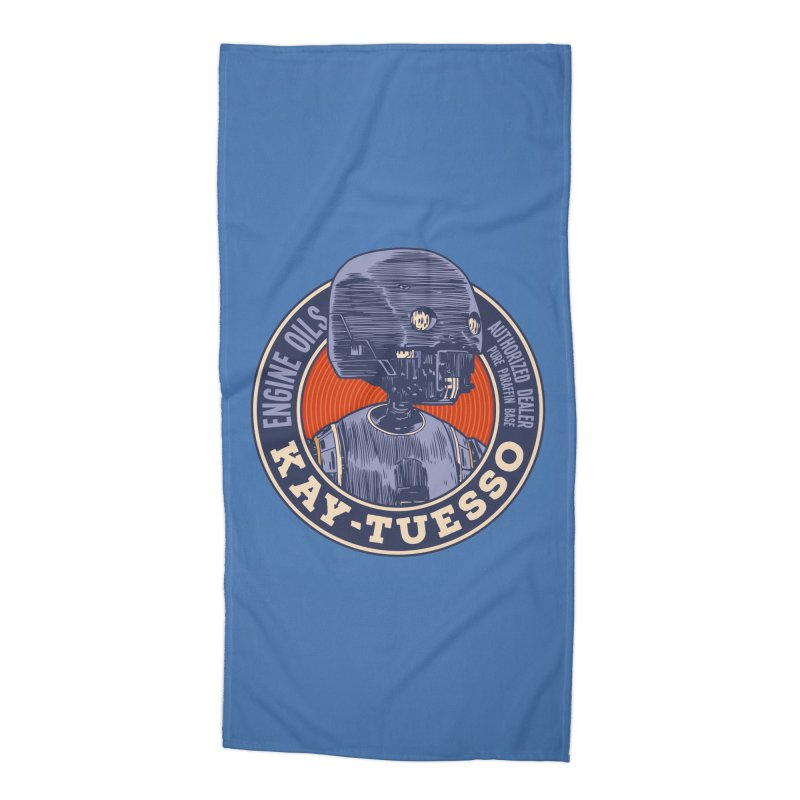 Motor Oils Accessories Beach Towel by Pakai Baung