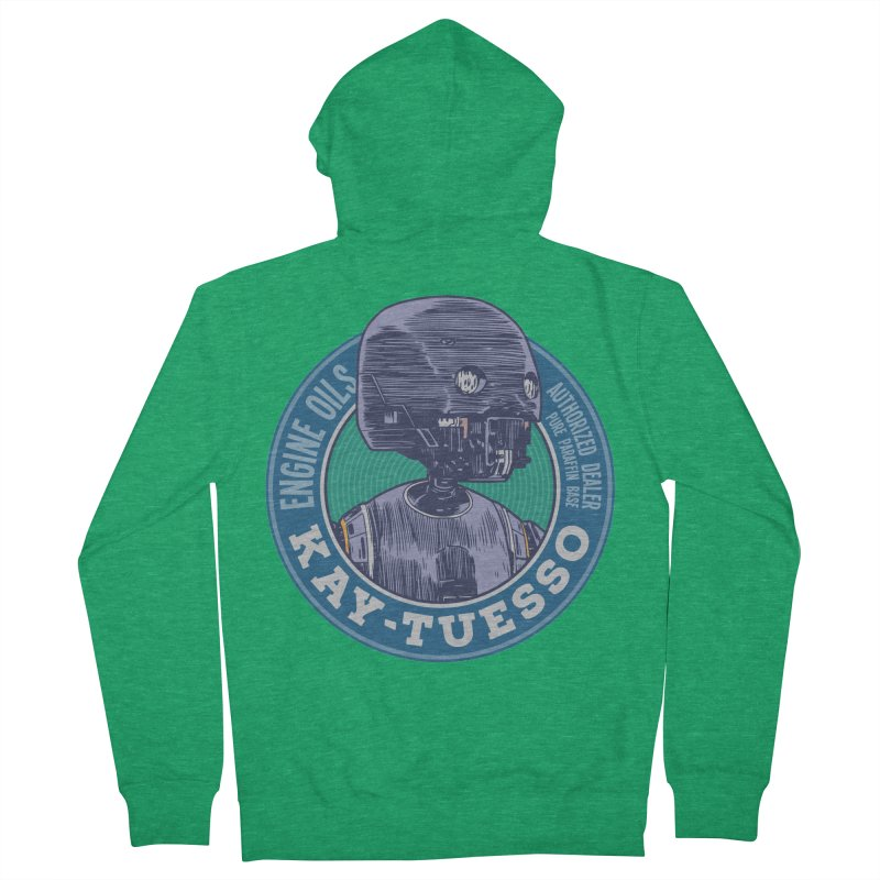 Motor Oils Alternate Color Women's French Terry Zip-Up Hoody by Pakai Baung