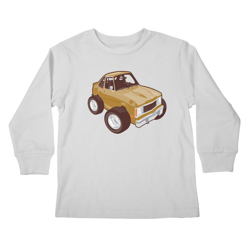 Vintage Ride Kids Longsleeve T-Shirt by Pakai Baung