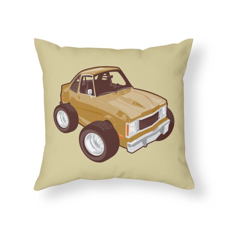 Vintage Ride Home Throw Pillow by Pakai Baung