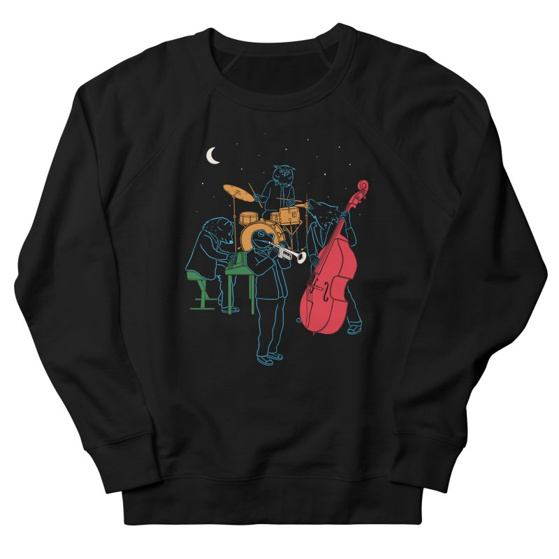 Animals Plays Music Women's French Terry Sweatshirt by Palitosci