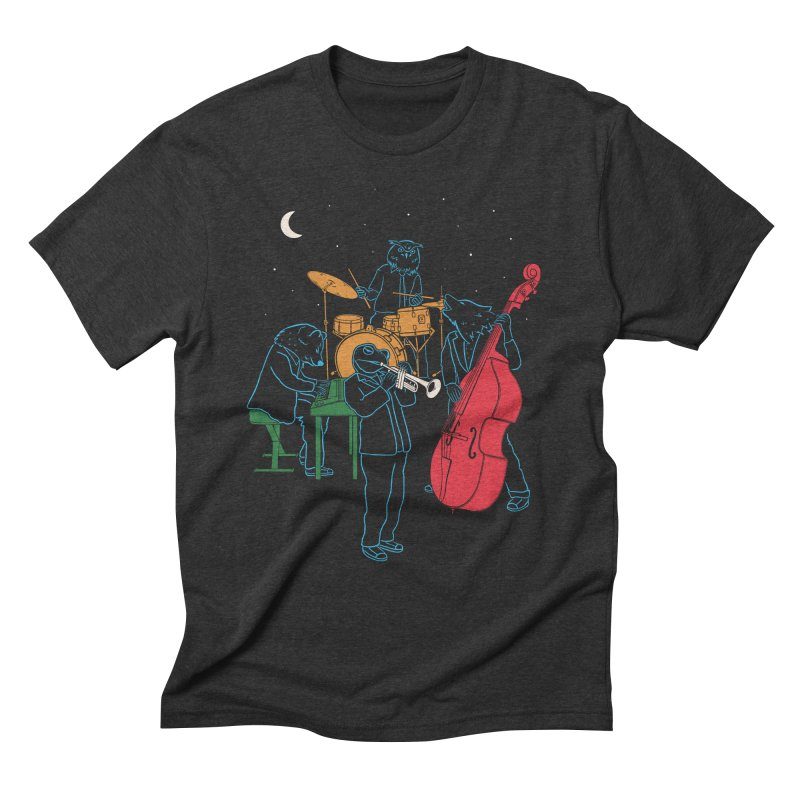 Animals Plays Music Men's Triblend T-shirt by Palitosci
