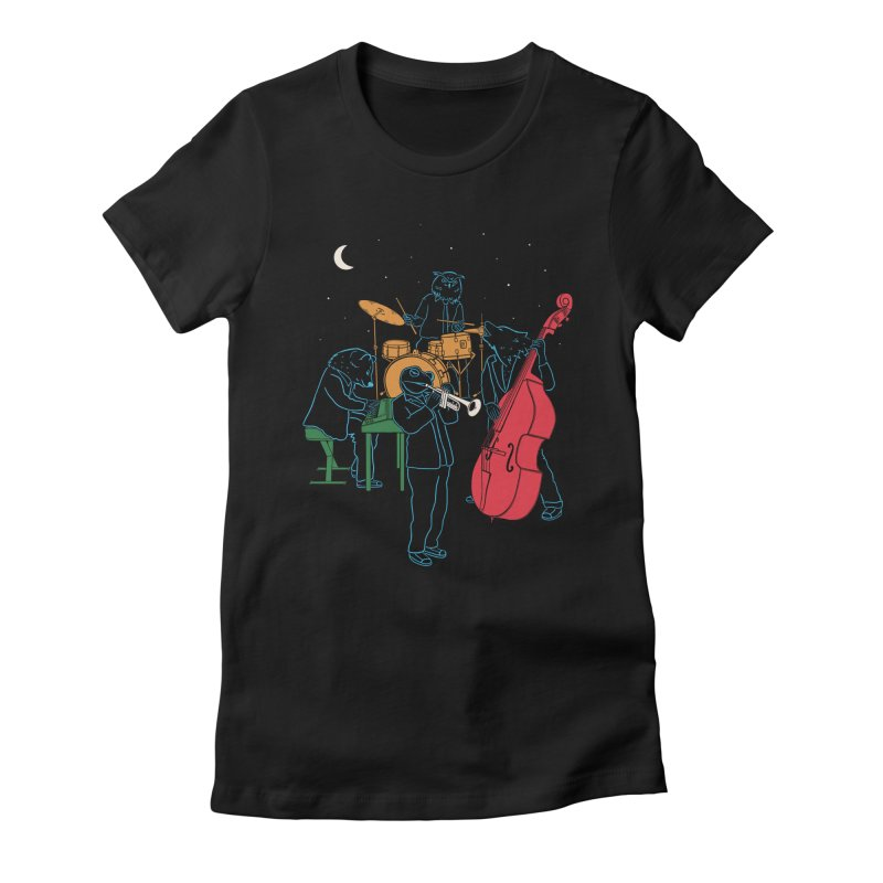 Animals Plays Music Women's Fitted T-Shirt by Palitosci