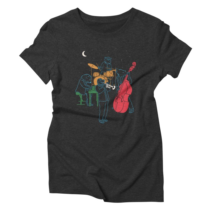Animals Plays Music Women's Triblend T-Shirt by Palitosci