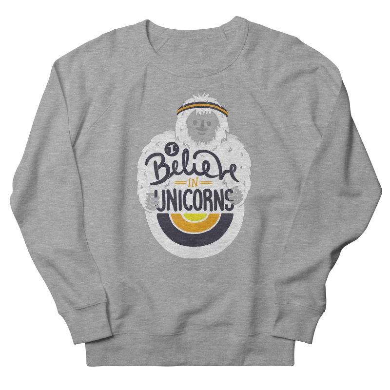 I Believe in Unicorns Men's French Terry Sweatshirt by Palitosci